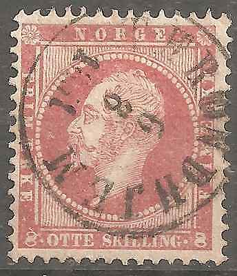 NORWAY # 5  8Sk RED VERY HIGH CONDITION NO THINS,FOLDS,REPAIRED, 2SCANS