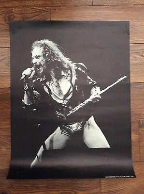 JETHRO TULL: Vintage 1977 Poster, Approx 2 x 3', Dallas, Texas.