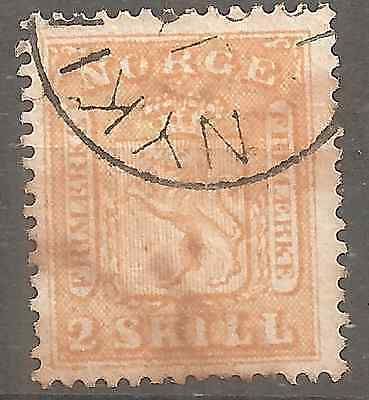NORWAY # 6  2Sk YELLOW VERY HIGH CONDITION NO THINS,FOLDS,REPAIRED, 2SCANS