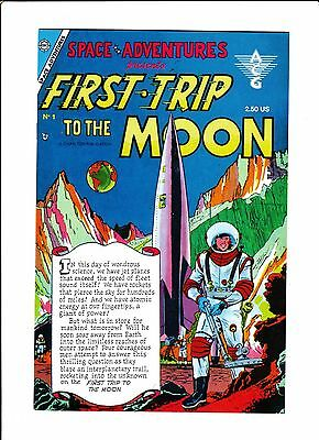 SPACE ADVENTURES #1  [1980's VG-FN]  FIRST TRIP TO THE MOON  REPRINT!
