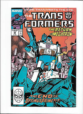 "Transformers #48  [1989 Fn+]  ""the Return Of Megatron!"""