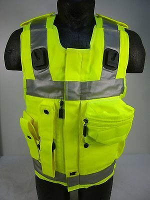 COVER ONLY! Ex Police KIT Hi Vis Viz Equipment Stab Body Armor Vest B4 U04
