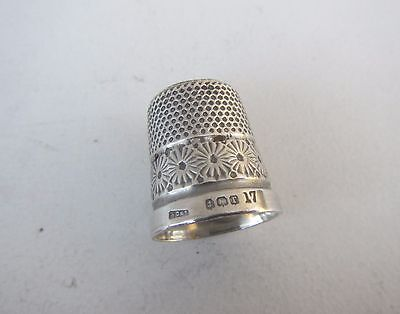 Old Solid Silver Thimble - Hallmarked Henry Griffiths & Son Ltd, B'Ham 1916