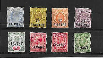 Levant selection GB KEVII-KGV o/p's MM & used, nice lot