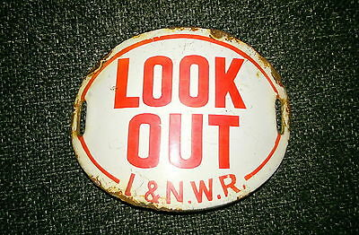 L&nwr Enamelled Look Out Badge.