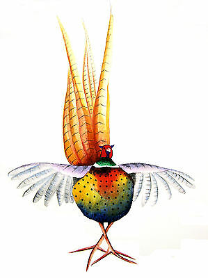 """""""PHEASANT"""" LARGE 16 X 12"""" (A3) SIGNED PRINT From Original Watercolour Maria Moss"""
