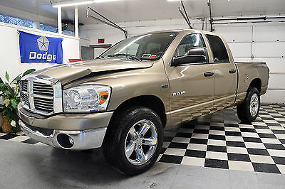 2008 Dodge Ram 1500 Big Horn 2008 4WD Quad Cab Certified Rebuildable Car Repairable Damaged Wrecked