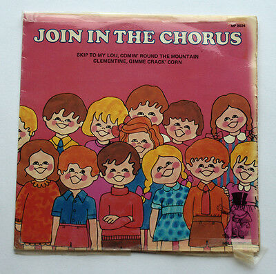 "Vintage 45 RPM 7"" Vinyl Record, 'Join the Chorus' , 1970s childrens songs"