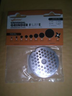 Weston 29-0804 Universal Meat Grinder Plate #8 - 4.5MM-STAINLESS STEEL