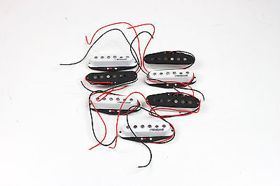 7 x Wilkinson Electric Guitar Pickup Middle Single Coil White for Strat MWVS