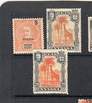 A very nice old trio of Mint Nyassa Company issues