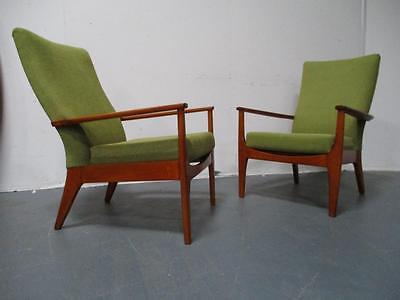 Pair of Retro Parker Knoll  Armchair 1960s 1970's Vintage Mid Century Modern