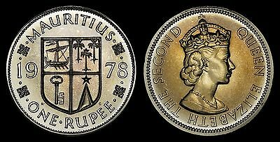 Mauritius 1 Rupee 1978 (Gem Proof) *low Mintage & Toned Proof Issue*