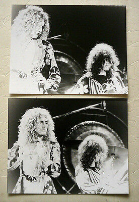 Led Zeppelin  Set Of Two Large Photos Original Issue 70's
