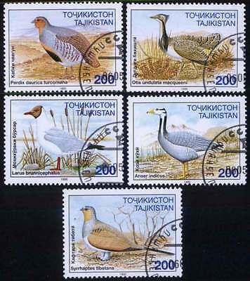 TAJIKISTAN (03/2) 1995 Birds  Used 5 diff. Stamps ! Gift Your Children !