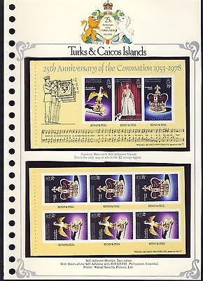 Postage stamps, 25th Anniversary Coronation: Turks & Caicos Islands sheetlets