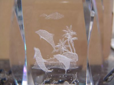 Dolphins Laser Cut Etched Glass