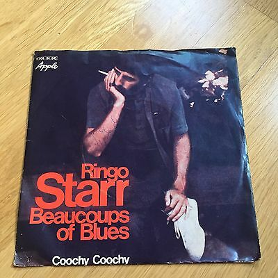 Ringo Starr*Because of the Blues / Coochy Coochy*Orig Dt Apple*Beatles*TOP*1970