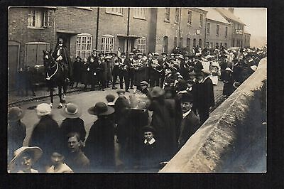 Narborough - Procession - real photographic postcard