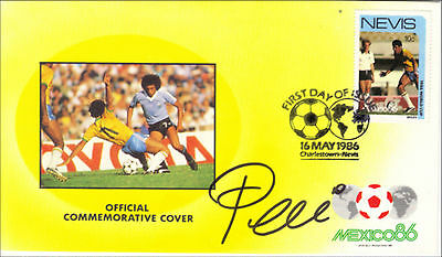 Pele of Brazil Hand Signed FDC World Cup First Day Cover with Original Signature