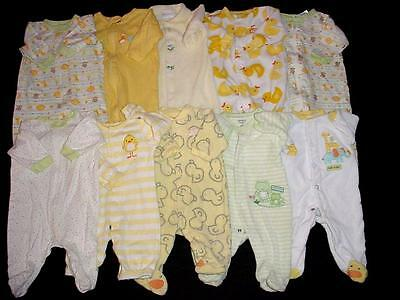 Used Baby Neutral Unisex Newborn & 0-3 Months Sleeper Boy Girl Clothes Lot