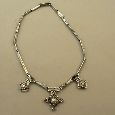 Vintage Hand Made Silver Necklace Tribal