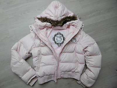 Doudoune Hello Kitty Victoria Couture Fille Rose Taille 12 Ans / 14 Ans Tbe