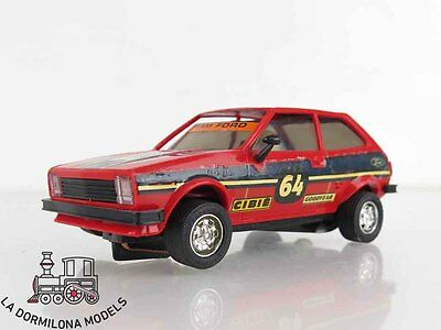 LMd152 - SCALEXTRIC SLOT - EXIN 4075 FORD FIESTA ROJO #64