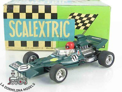 LMd145 - SCALEXTRIC SLOT - EXIN C-48 FORD TYRELL VERDE #17 CON CAJA Y DOCUMENTAC