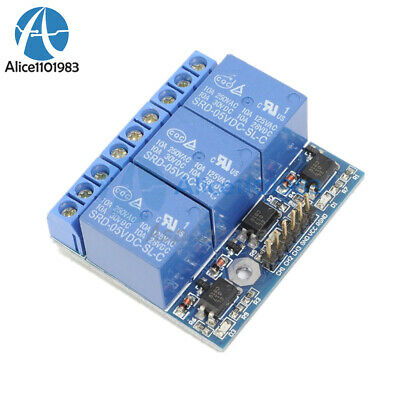 3-Channel Relay Module With Optocoupler Isolation Compatible 3.3V 5V Signal