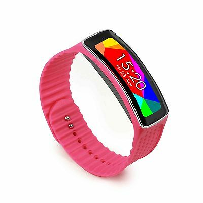 Tuff-Luv Silicone adjustable strap and Buckle for Samsung Galaxy Gear Fit - Pink