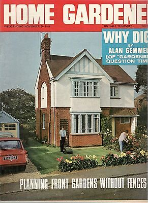 1966 26 NOV 37866 Home Gardener Magazine PLANNING FRONT GARDENS WITHOUT FENCES