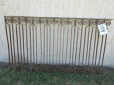 Antique Victorian Iron Gate Window Garden Fence Architectural Salvage Door #158