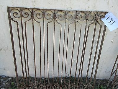 Antique Victorian Iron Gate Window Garden Fence Architectural Salvage Door #171