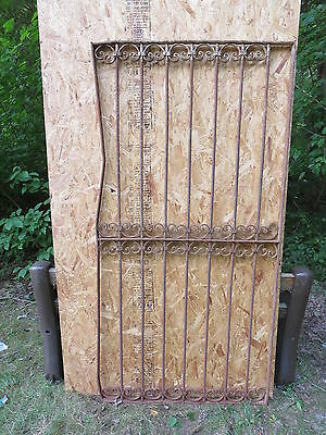 Antique Victorian Iron Gate Window Garden Fence Architectural Salvage Door U