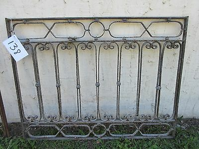 Antique Victorian Iron Gate Window Garden Fence Architectural Salvage Door #138