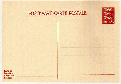 1935 Estonia 18s Postal Stationery Post Card Mint Unused