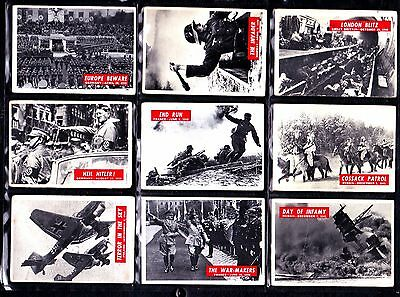 War Bulletin Cards by PGCE Full Set of 88 see text for more pics