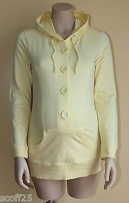 *BNWT* SOUTH Maternity Yellow Hooded Top Hoody Hoodie Size 8