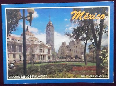 Mexico City Of Palaces Vintage Souvenir Travel Booklet English Spanish Germ Frch