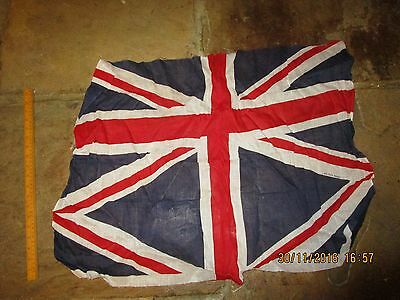 Vintage Union Jack  Flag .British made printed flag - needs excess cutting off