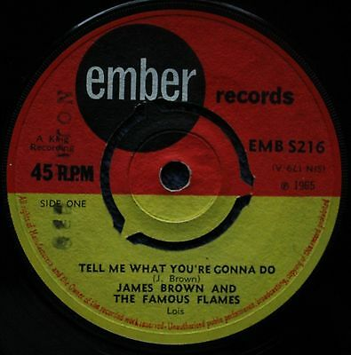 "James Brown Tell Me What You're Gonna Do Soul, Funk 1960S 7 "" INCH 45RPM"