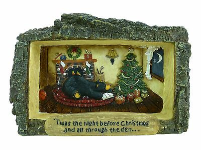 """Cabin View Frame Bearfoots Twas the Night Before Christmas 3"""" x 5"""" Jeff Fleming"""