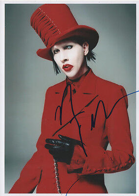 *tres Rare*photo 15X21 Dedicacee Par Marilyn Manson