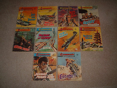 10 Very Early Old Commando Comic Books All Under 600 War Stories Bundle Joblot