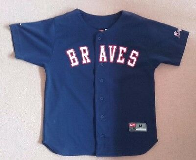 Vintage Atlanta Braves Baseball Jersey Nike C Jones 10 Youth 12-14 Chipper Top