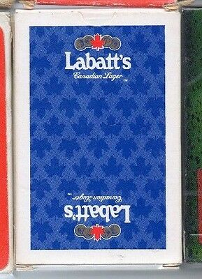 vintage. labatt's larger. playing cards.