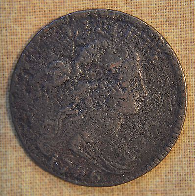 1796 Draped Bust Large Cent - Good Details - Pitted