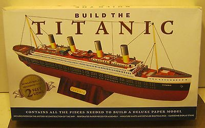 Sterling Innovation Build THE TITANIC Deluxe Paper Model Kit NEW w Seals!! NR!!
