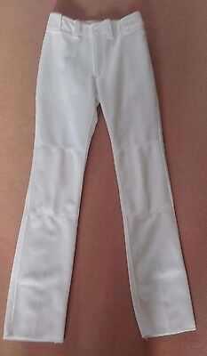 Mizuno White Baseball Pants Trousers Youth XL 28 inch Waist
